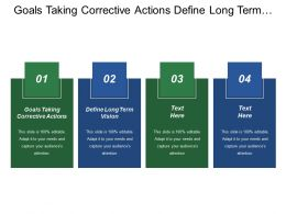 Goals Taking Corrective Actions Define Long Term Vision