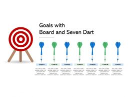 Goals With Board And Seven Dart