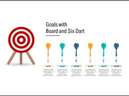Goals With Board And Six Dart