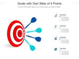 Goals With Dart Slide Of 4 Points Infographic Template