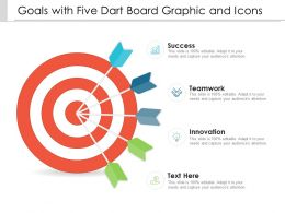 Goals With Five Dart Board Graphic And Icons