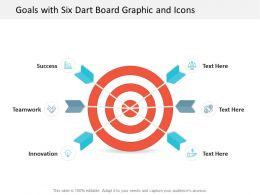 Goals With Six Dart Board Graphic And Icons