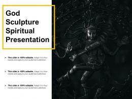 God Sculpture Spiritual Presentation