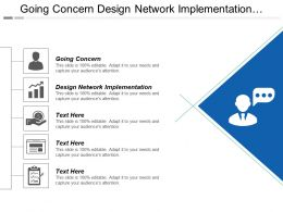 Going Concern Design Network Implementation Communication Engagement Service Cpb