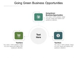 Going Green Business Opportunities Ppt Powerpoint Presentation File Shapes Cpb