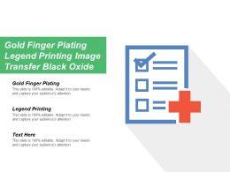 Gold Finger Plating Legend Printing Image Transfer Black Oxide