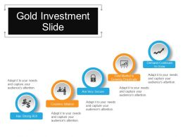 Gold Investment Slide Sample Of Ppt