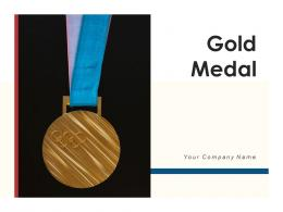 Gold Medal Stripped Attached Award Centre Rewarded