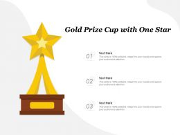 Gold Prize Cup With One Star