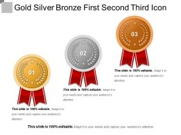 Gold Silver Bronze First Second Third Icon