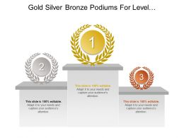 Gold Silver Bronze Podiums For Level Of Importance Of List Of Categories