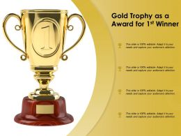 Gold Trophy As A Award For 1st Winner