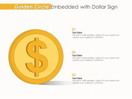 Golden Circle Embedded With Dollar Sign