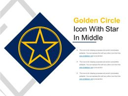Golden Circle Icon With Star In Middle