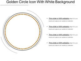 Golden Circle Icon With White Background
