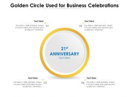 Golden Circle Used For Business Celebrations