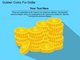 Golden Coins For Dollar Flat Powerpoint Design
