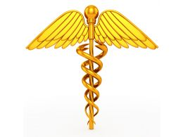 Golden Color Graphic Of Medical Symbol Stock Photo