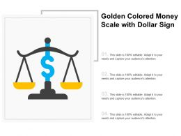 Golden Colored Money Scale With Dollar Sign
