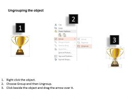 Golden Cup Of Victory And Success Powerpoint Template