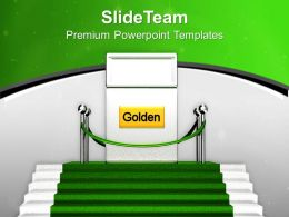 Golden Gate On Green Carpet Success Powerpoint Templates Ppt Themes And Graphics 0313