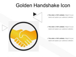 Golden Handshake Icon