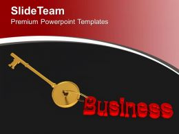 Golden Key To Business PowerPoint Templates PPT Themes And Graphics 0213