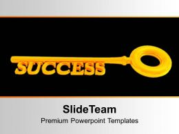 Golden Key To Success On Background PowerPoint Templates PPT Themes And Graphics 0213
