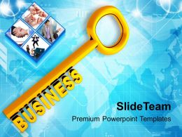 Golden Key With Word Business Powerpoint Templates Ppt Backgrounds For Slides 0213
