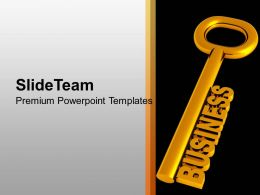 Golden Key With Word Business Security PowerPoint Templates PPT Themes And Graphics 0213