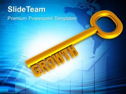 Golden Key With Word Growth Powerpoint Templates Ppt Themes And Graphics 0213