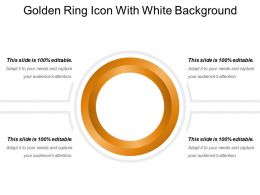 Golden Ring Icon With White Background
