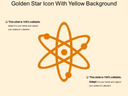 Golden Star Icon With Yellow Background
