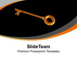 Golden Success Key Powerpoint Templates Ppt Themes And Graphics 0313
