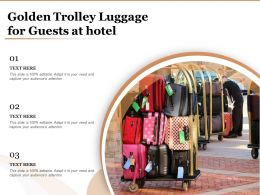 Golden Trolley Luggage For Guests At Hotel