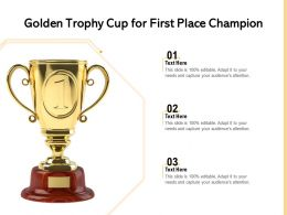 Golden Trophy Cup For First Place Champion