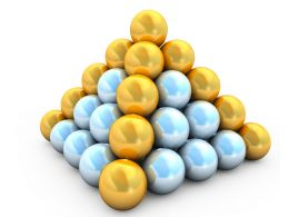 Golden White Metal Balls For Leadership Concept Stock Photo