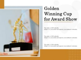 Golden Winning Cup For Award Show