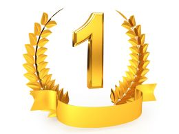 Golden Wreath Award For Number One Winner Stock Photo