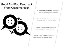 Good And Bad Feedback From Customer Icon