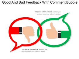 Good And Bad Feedback With Comment Bubble