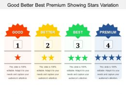Good Better Best Premium Showing Stars Variation