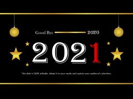Good Bye 2020 With Hanging Balls Powerpoint Templates