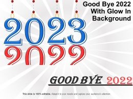 Good Bye 2022 With Glow In Background Good Ppt Example
