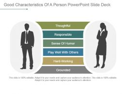 Good Characteristics Of A Person Powerpoint Slide Deck