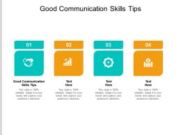 Good Communication Skills Tips Ppt Powerpoint Presentation Pictures Template Cpb