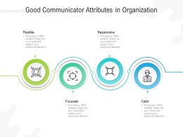 Good Communicator Attributes In Organization