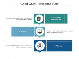 Good CSAT Response Rate Ppt Powerpoint Presentation Infographics Introduction Cpb