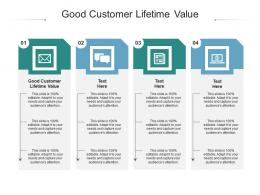 Good Customer Lifetime Value Ppt Powerpoint Presentation Infographics Designs Cpb
