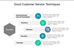 Good Customer Service Techniques Ppt Powerpoint Presentation Ideas Format Cpb